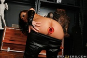 leather-clad redheaded burglar gets