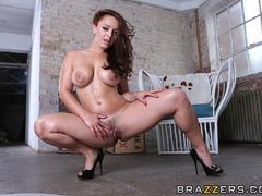 Tiny purple bikini brunette gets her anal hole - XXXonXXX - Pic 7