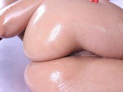 Tiny purple bikini brunette gets her anal hole - XXXonXXX - Pic 11