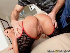 Trimmed pussy French brunette enjoys deep anal sex - XXXonXXX - Pic 10