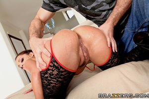 Trimmed pussy French brunette enjoys deep anal sex - XXXonXXX - Pic 10