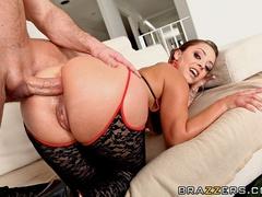 Trimmed pussy French brunette enjoys deep anal sex - XXXonXXX - Pic 12