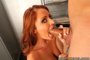 Blue-eyed redhead with massive tits gets fucked in the vault - XXXonXXX - Pic 10