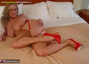 blonde stunner with huge