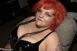 Big breasted BBW with nice red hair exposes her unshaved pussy - XXXonXXX - Pic 2