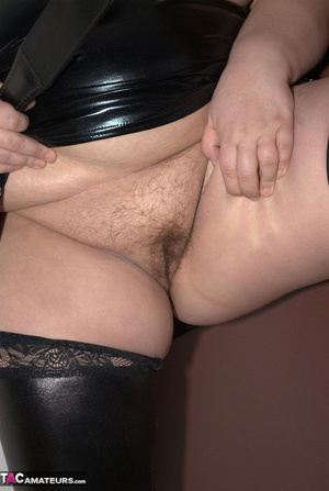 Big breasted BBW with nice red hair exposes her unshaved pussy - XXXonXXX - Pic 12