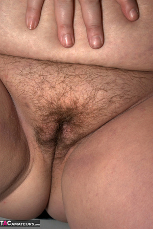 Big breasted BBW with nice red hair exposes her unshaved pussy - XXXonXXX - Pic 15