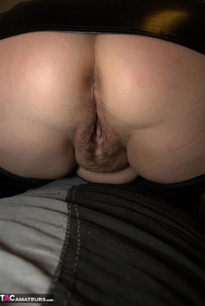 Big breasted BBW with nice red hair exposes her unshaved pussy - XXXonXXX - Pic 19
