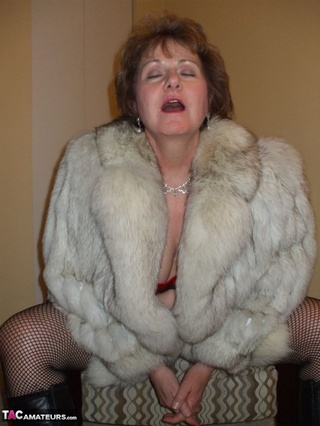 lusty mature slut wearing