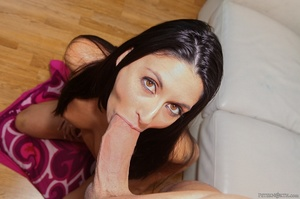 Young honey's small mouth grips dick during a world-class suck. - XXXonXXX - Pic 9