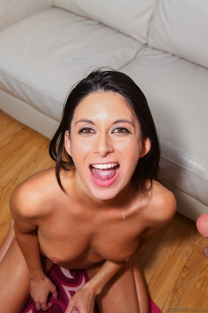 Young honey's small mouth grips dick during a world-class suck. - XXXonXXX - Pic 13