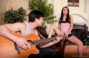 guitar player gets gal