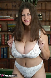 this busty brunette shows