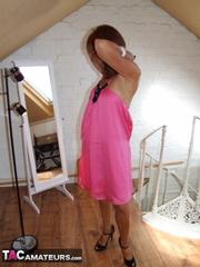 skinny brunette milf pink