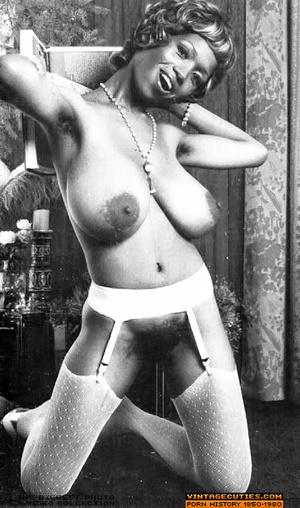 Sexy black bitch in white lingerie flaun - XXX Dessert - Picture 1