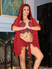 brunette indian beauty posing