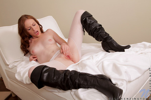 Sexy babe in  long leather boots is naked and ready to be fucked deeply - XXXonXXX - Pic 15
