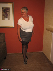 granny white enjoys stripping