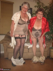 charming elderly blonde and
