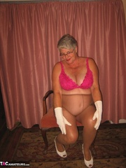 bewitching elderly blonde with