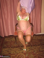 exquisite elderly curvy blonde