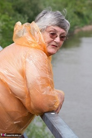 splendid elderly blonde with