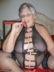 lavish elderly blonde with