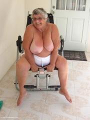 bewitching platinum blonde grandma