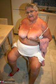 superb platinum blonde grandma