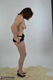 brunette milf black and