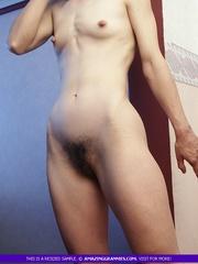 skinny granny pose naked