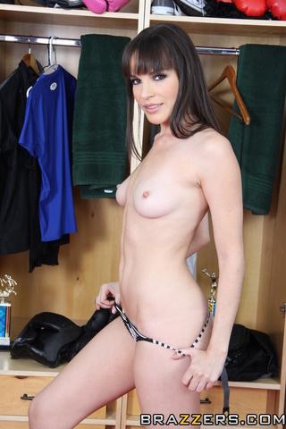 pale brunette bangs anally