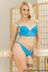 thick blonde blue lingerie