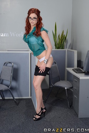 office lesbian fucking with