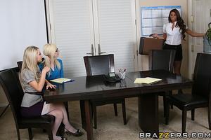 Skinny slender secretary strokes pussy on the table - XXXonXXX - Pic 11