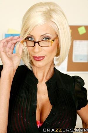 Milf in glasses slowly presents her massive round tits - XXXonXXX - Pic 6