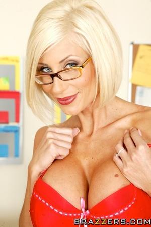 Milf in glasses slowly presents her massive round tits - XXXonXXX - Pic 7