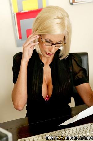 Milf in glasses slowly presents her massive round tits - XXXonXXX - Pic 10