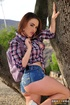 Outdoor anal penetration for a big-butt Southern girl