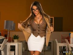 Glamorous secretary in glasses fucked by her boss - XXXonXXX - Pic 1