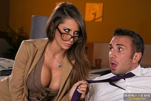Glamorous secretary in glasses fucked by her boss - XXXonXXX - Pic 8