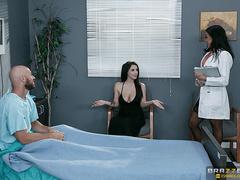 Nurse in black stockings is getting facialized by - XXXonXXX - Pic 5