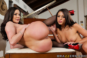 two unbeliavable brunettes one