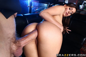 Curvy brunette bitch in sexy bikini rides the huge cock of her customer with her tight asshole after pole dancing - XXXonXXX - Pic 12