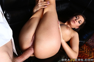 Curvy brunette bitch in sexy bikini rides the huge cock of her customer with her tight asshole after pole dancing - XXXonXXX - Pic 15