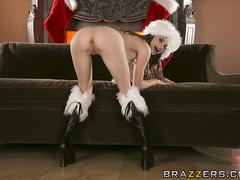 Two naughty Santa's girls get fucked by one horny - XXXonXXX - Pic 3