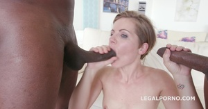 Slut enjoys two BBCs so much she cries, one in ass other in mouth - XXXonXXX - Pic 14