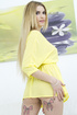 Enjoyable blonde wearing light yellow loose dress getting her ass and