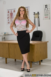 naughty doctor pink lingerie
