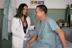 Hot brunette doctor likes it when you worship her nice ass - XXXonXXX - Pic 3